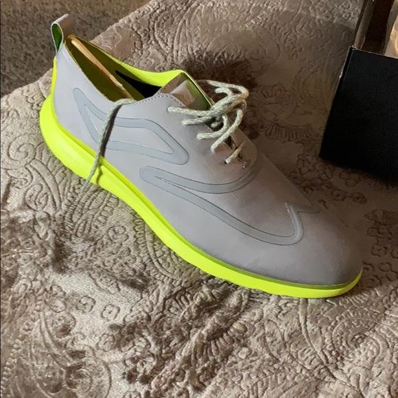 Cole Haan Zerogrand Grey Lime Green